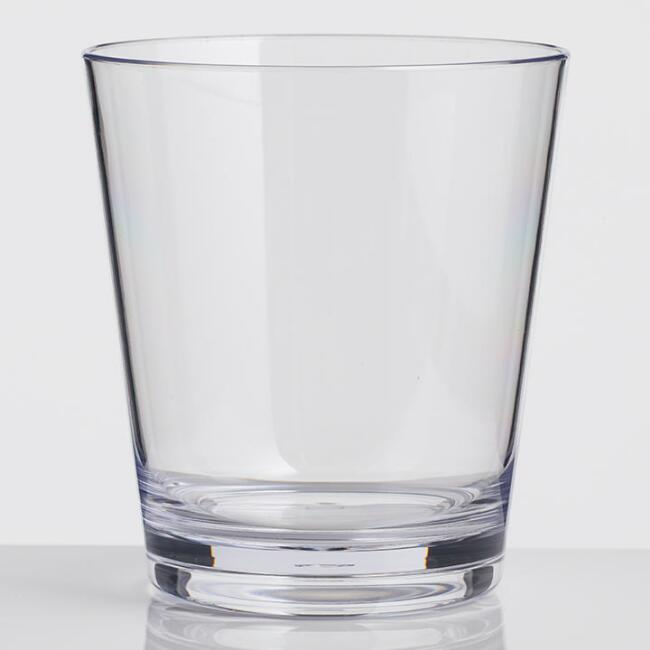 Acrylic Double Old Fashioned Glasses Set of 6