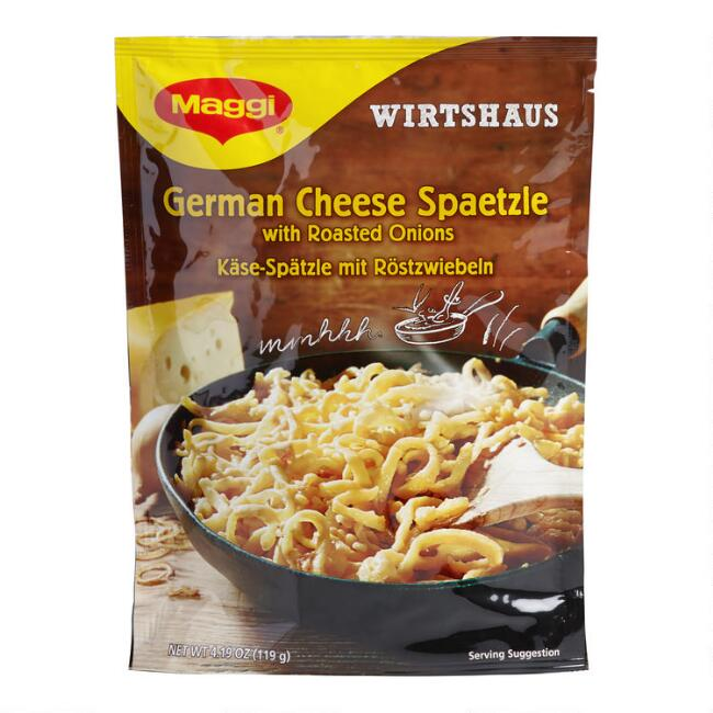 Maggi German Cheese Spaetzle with Roasted Onions