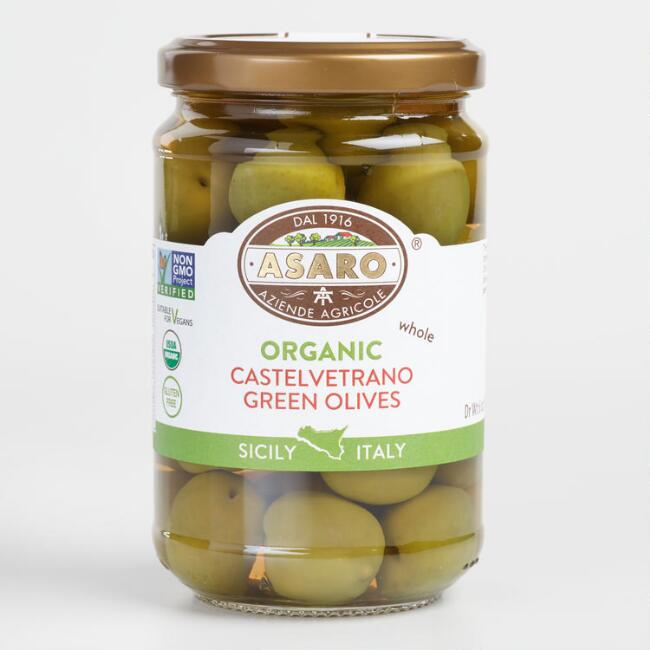Asaro Castelvetrano Whole Organic Green Olives