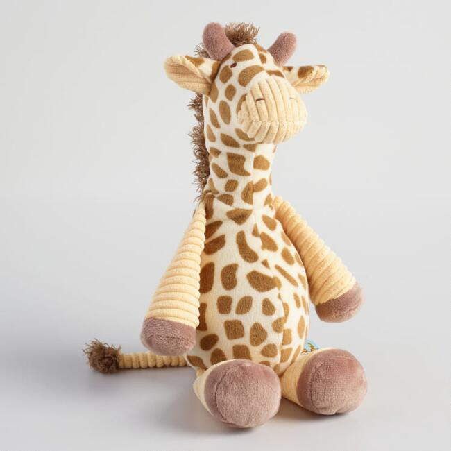 Plush Corduroy Raffy The Giraffe
