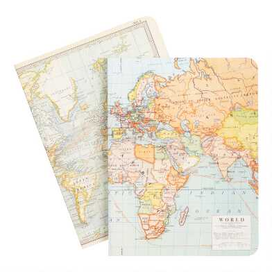 Vintage Map Journals 2 Pack