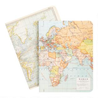 Unique note cards journals stationary world market maps journal sciox Images