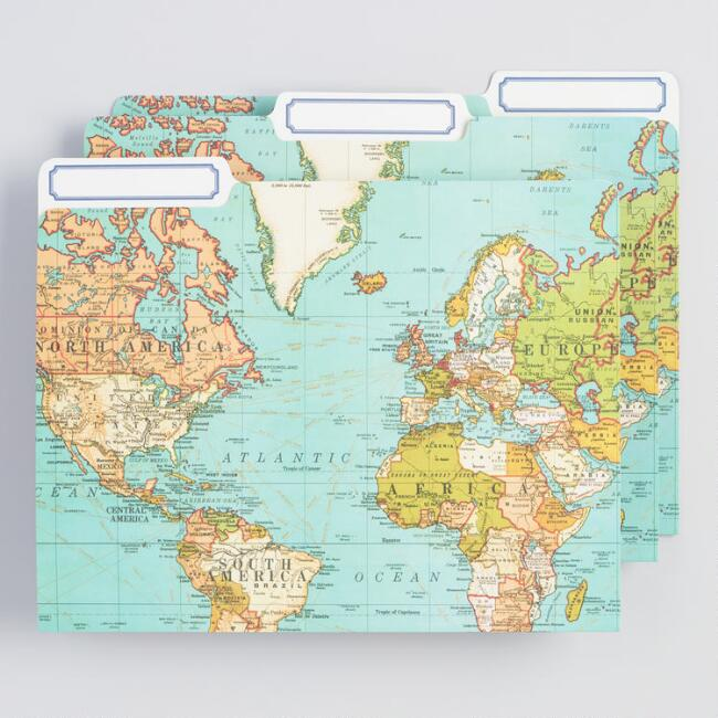 Maps File Folders 12 Pack
