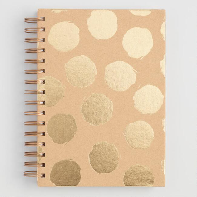 Gold Foil Kraft Journal