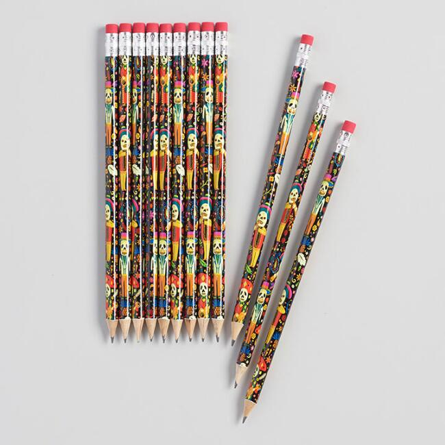 Day of the Dead Pencils Set of 12