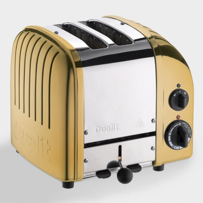Dualit Brass New Generation Classic 2 Slice Toaster