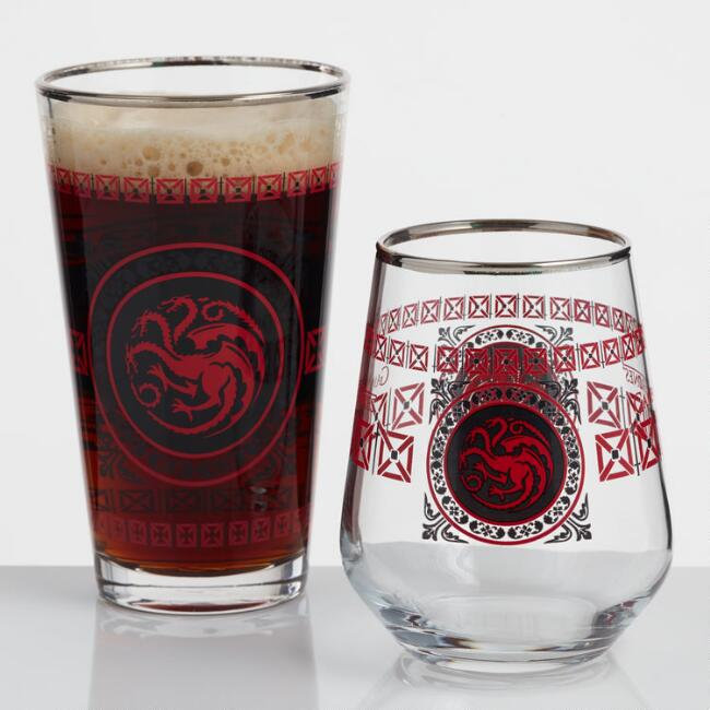 Game of Thrones Targaryen Glassware