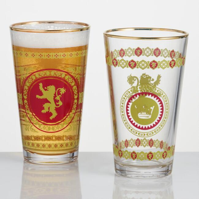 Game of Thrones Lannister Pub Glasses Set of 2