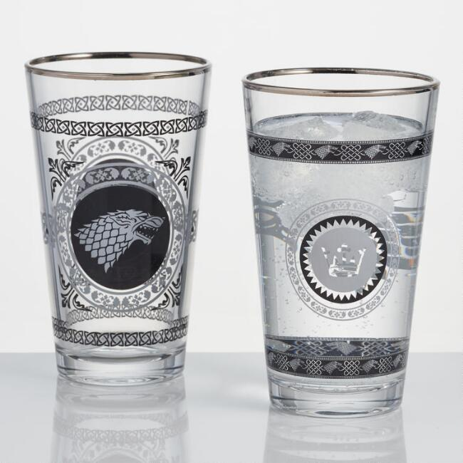 Game of Thrones Stark Pub Glasses Set of 2