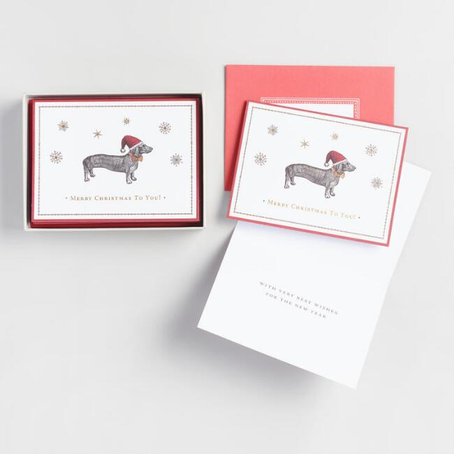 Dachsund Boxed Holiday Cards Set of 15