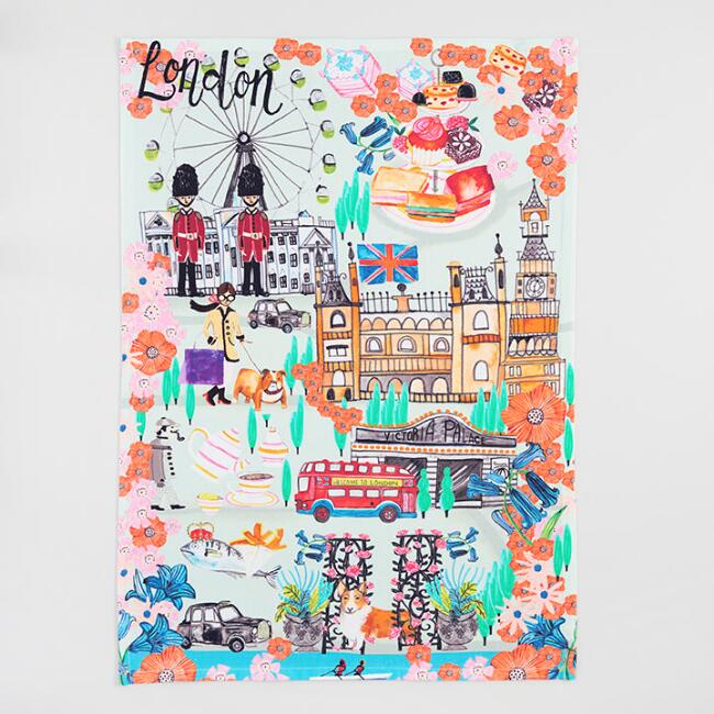 London Travel Cities Kitchen Towel