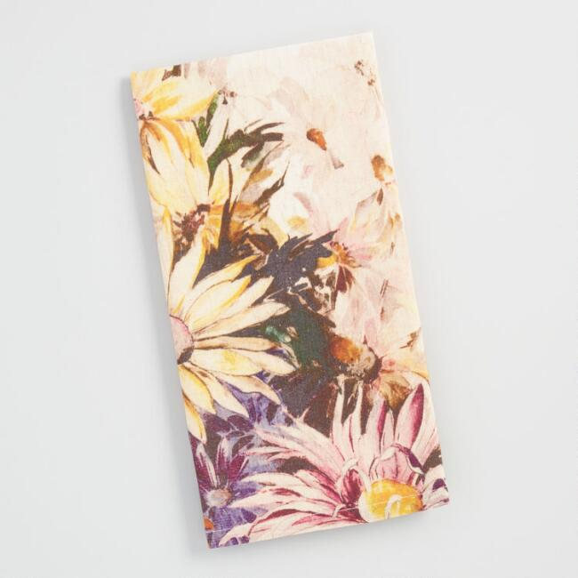 Floral Watercolor Sketch Kitchen Towel
