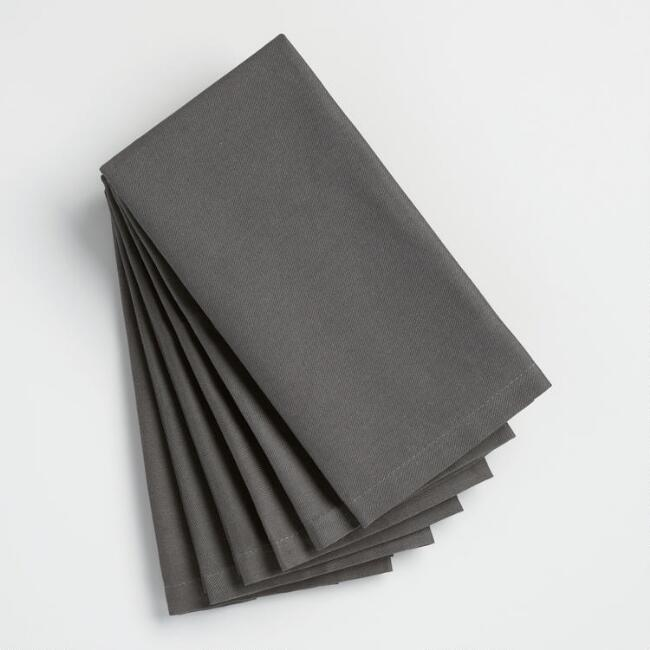 Dark Gray Buffet Napkins Set of 6