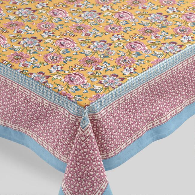 Purple Floral Amaya Tablecloth