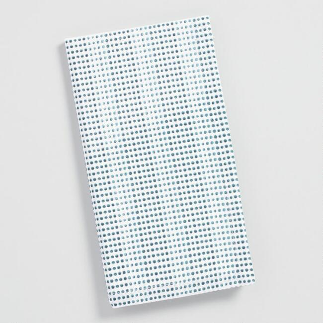 Blue and Teal Dotted Stripe Napkins Set of 4