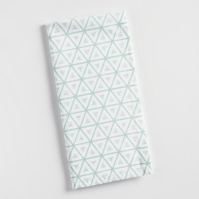 Aqua Triangle Napkins Set of 4