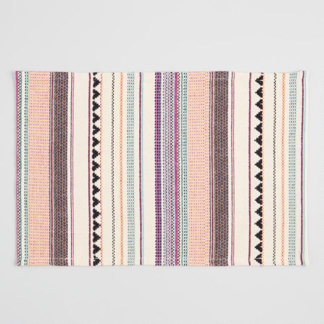 Multicolor Woven Stripe Placemats Set of 4