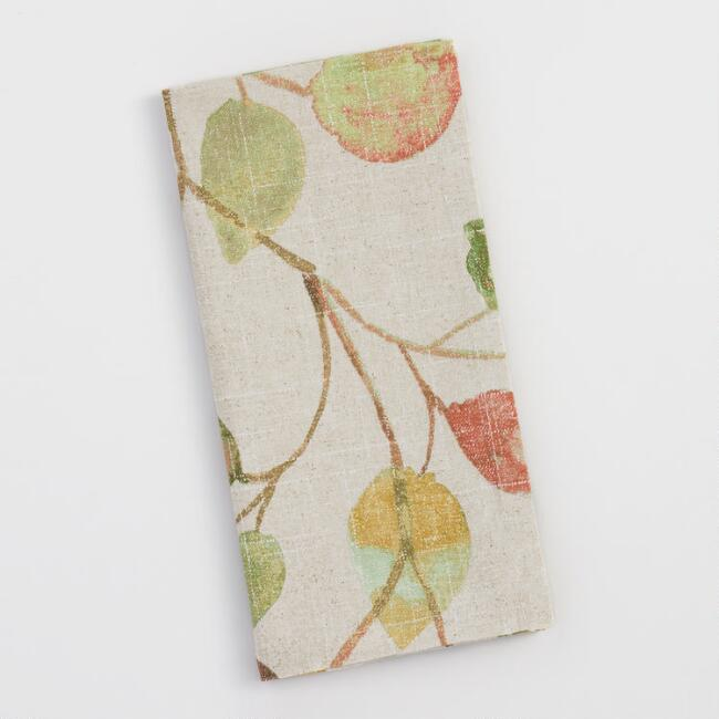 Autumn Leaves Napkins Set of 4