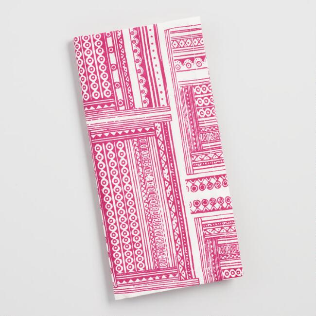 Pink Patchwork Print Napkins Set of 4