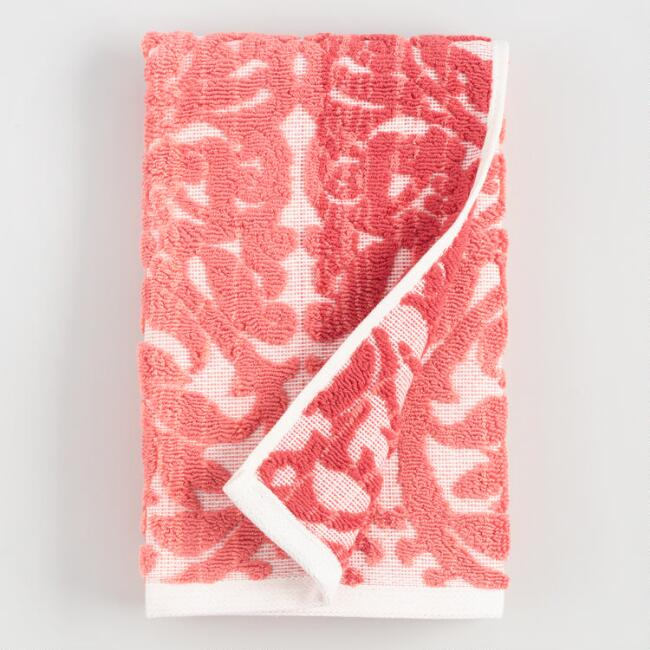 Coral Ombre Lila Hand Towel