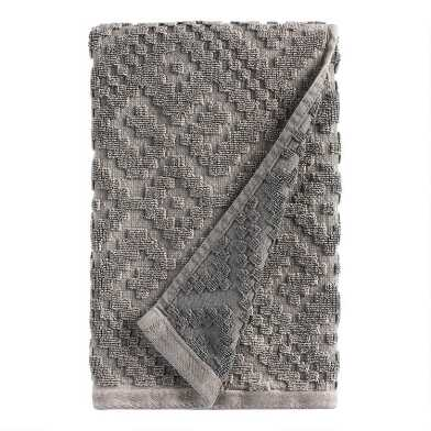 Charcoal Gray Geo Nova Hand Towel