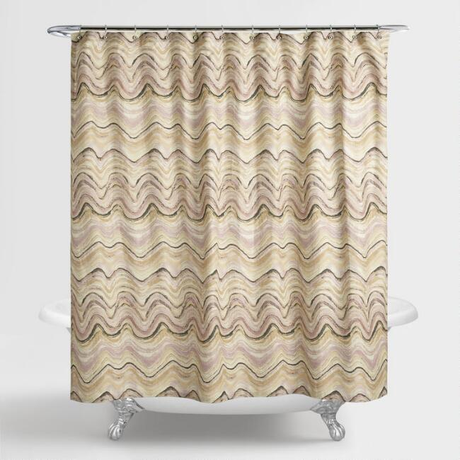 Blush Pink Marble Florence Shower Curtain