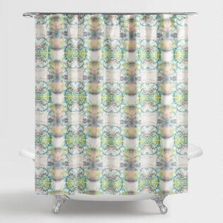 Green and Aqua Paola Shower CurtainShower Curtains   Shower Curtain Rings   World Market. Yellow And Teal Shower Curtain. Home Design Ideas
