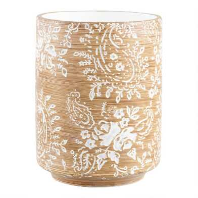 Paisley Carved Resin Tumbler