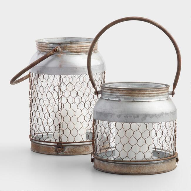 Galvanized Wire Lantern