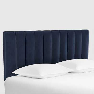 Channel Back Bran Upholstered Headboard