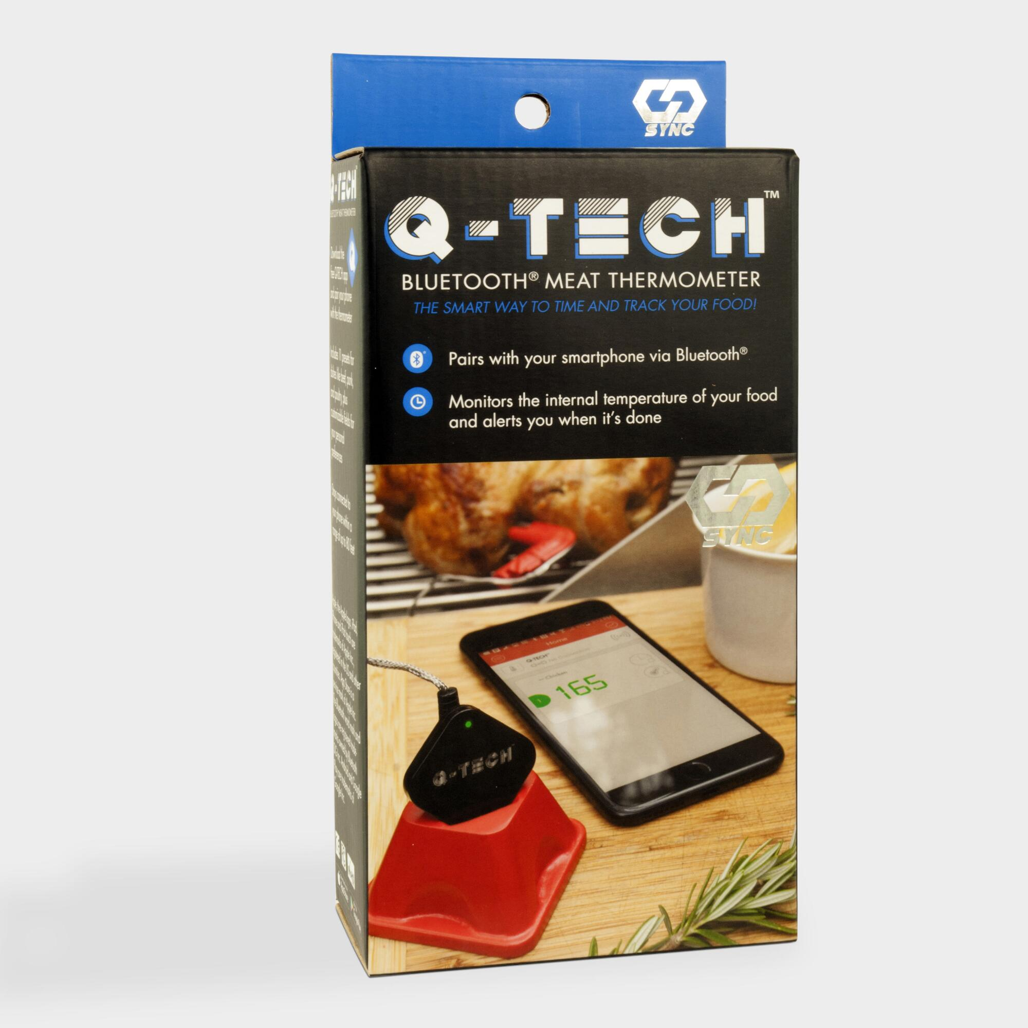 Q Tech Bluetooth BBQ Grill Thermometer by World Market