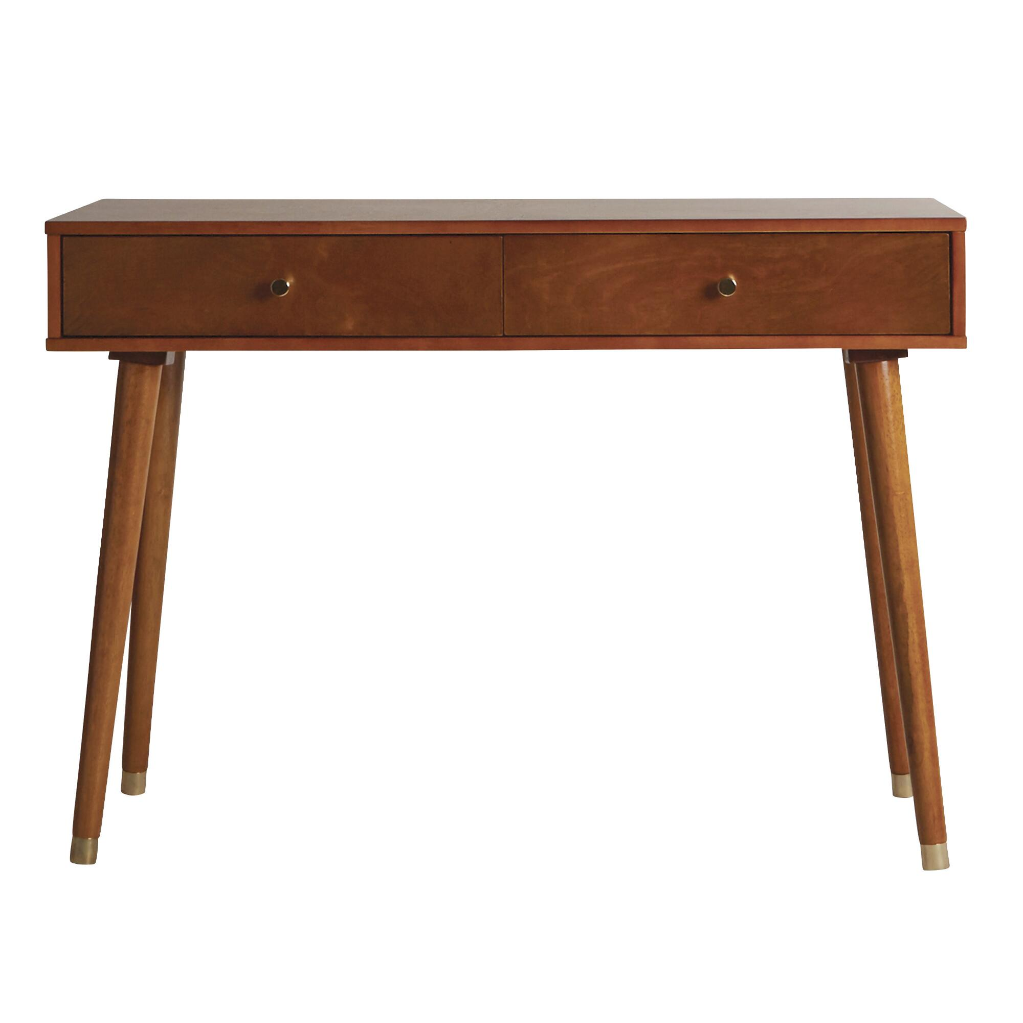 Light walnut wood caleb console table world market