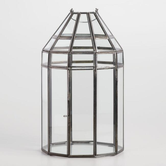 Antique Zinc Gazebo Terrarium