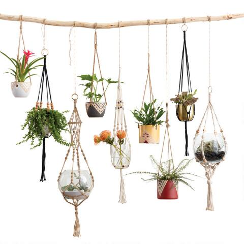 Natural Bead Macrame Plant Hanger World Market