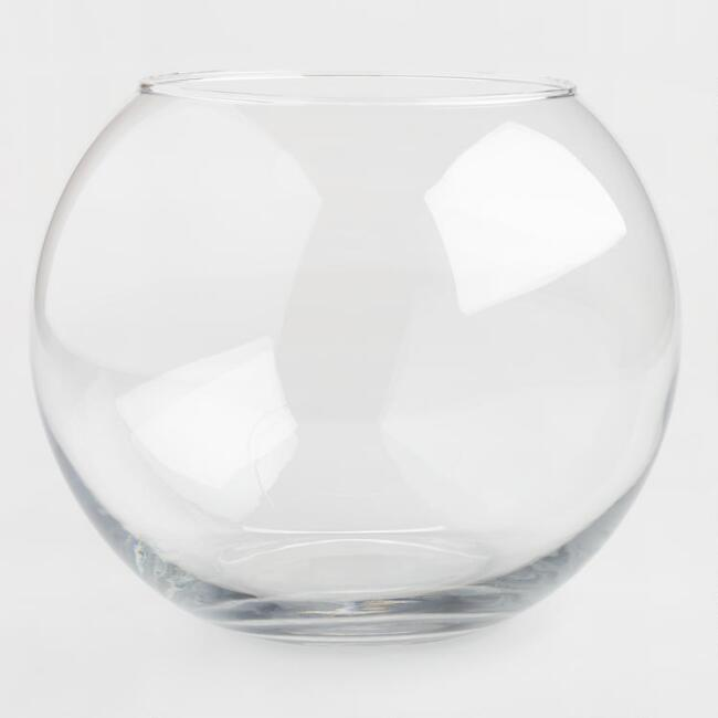 Clear Bubble Ball Vase
