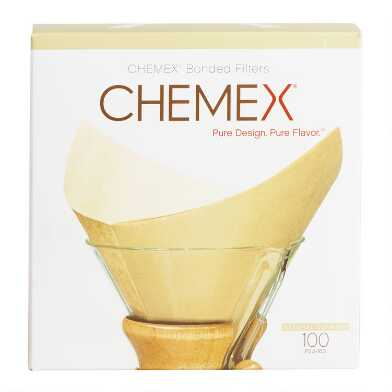Chemex Unbleached Coffee Filters 100 Count