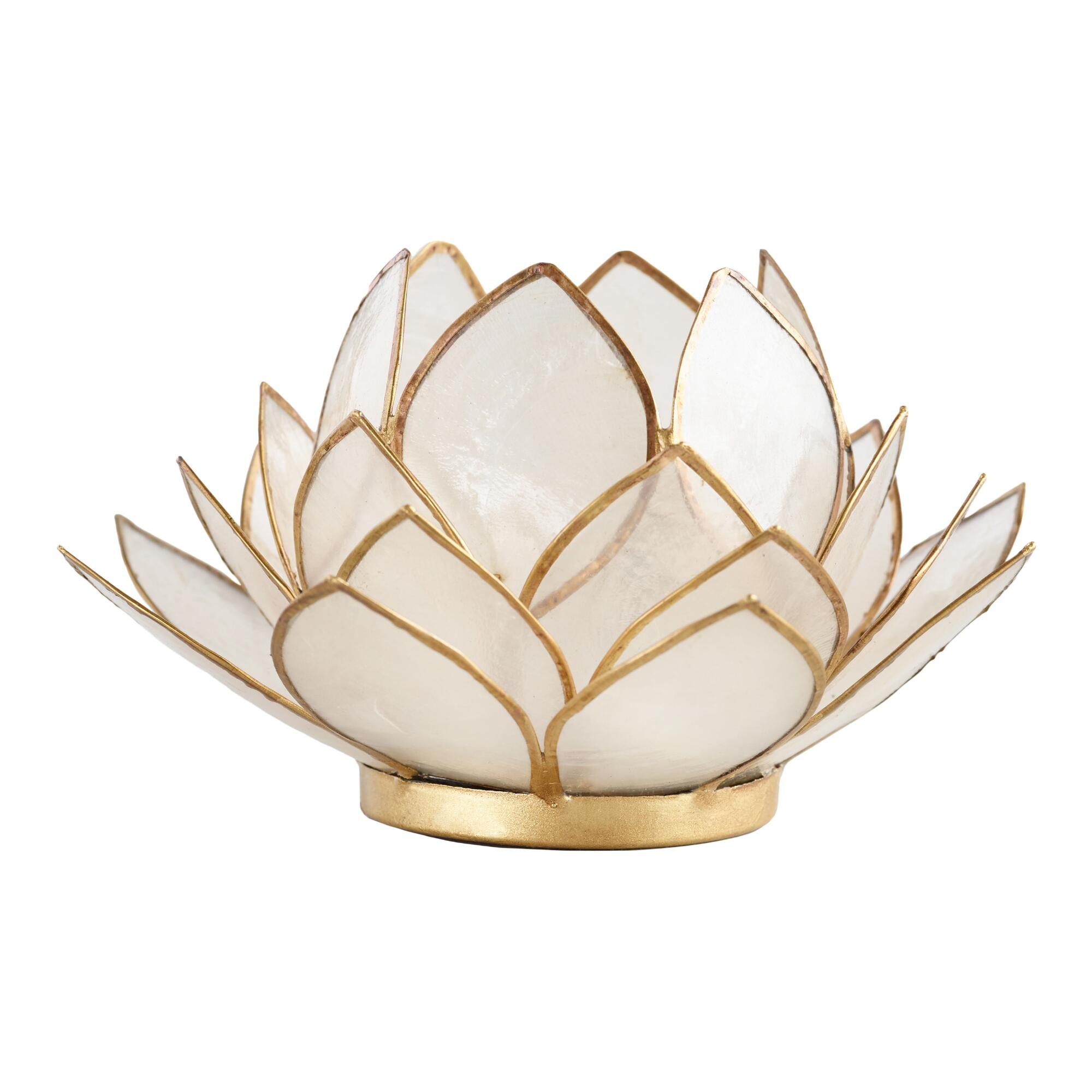 White Lotus Capiz Tealight Candleholder - Capiz Shell by World Market