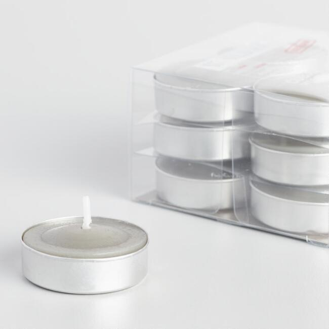 Cuban Linen Tobacco Tealight Candles 12 Pack
