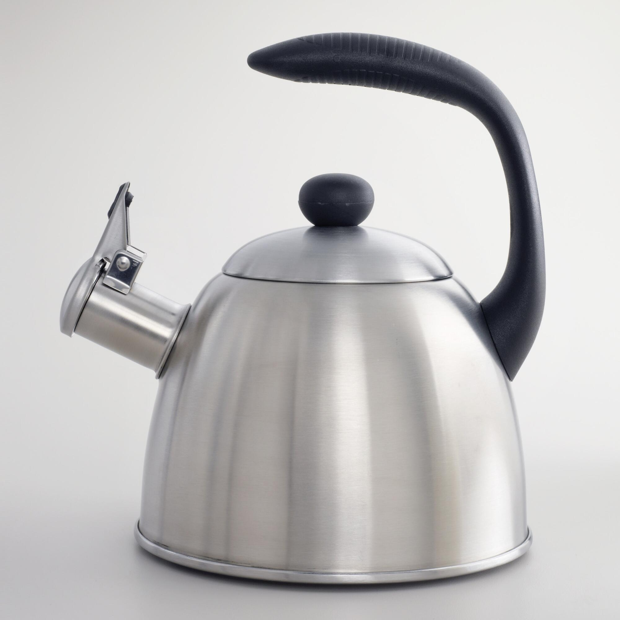 quart stainless steel teakettle  world market -