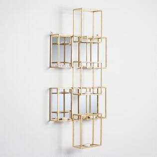Gold Square Mirrored Sconce