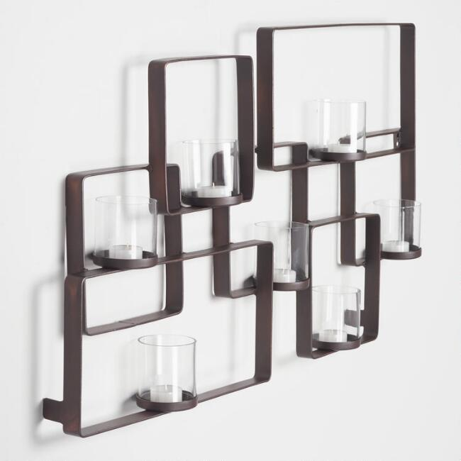 Dark Bronze Multi Square Sconce