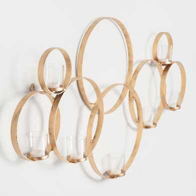 Brass Multi Circle Wall Sconce