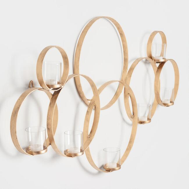 Brass Multi Circle Sconce