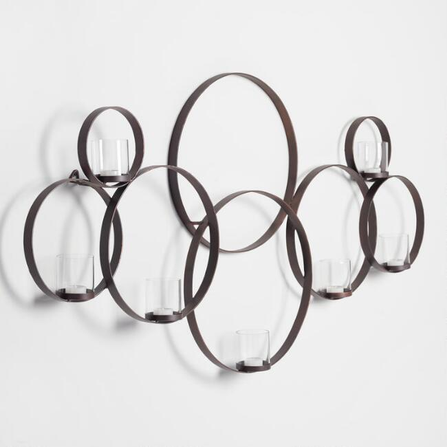 Dark Bronze Multi Circle Sconce