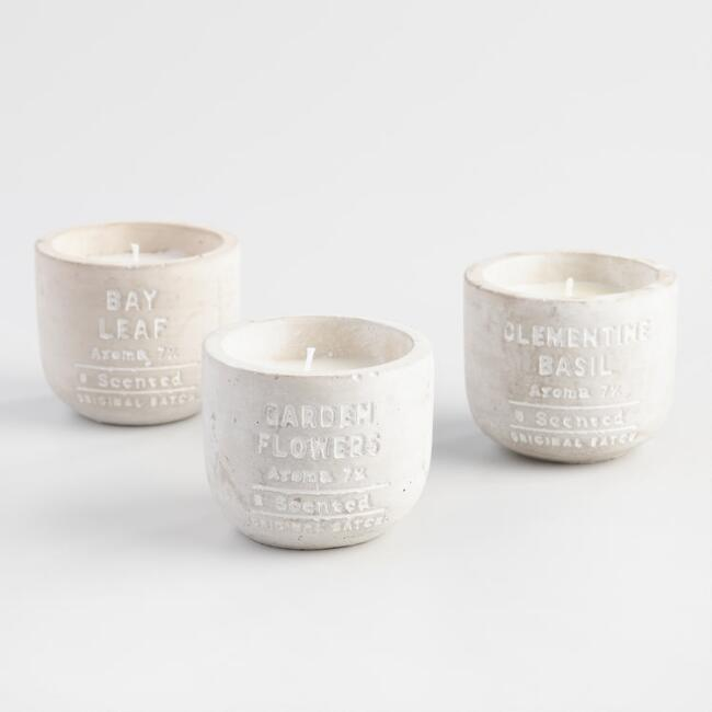 Cement Filled Jar Candle Collection
