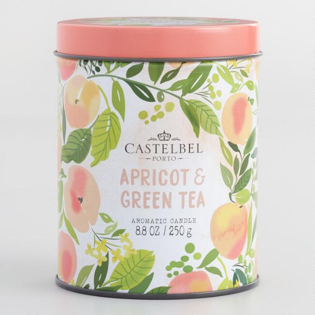 Castelbel Apricot and Green Tea Candle Tin