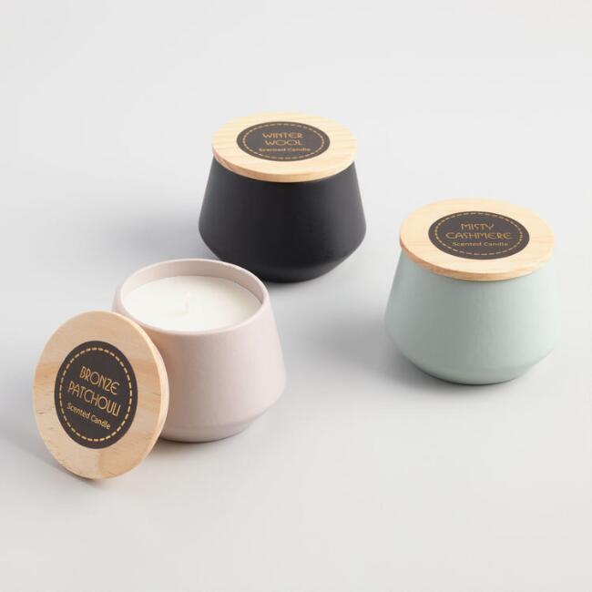 Scented Filled Ceramic Jar Candle Collection