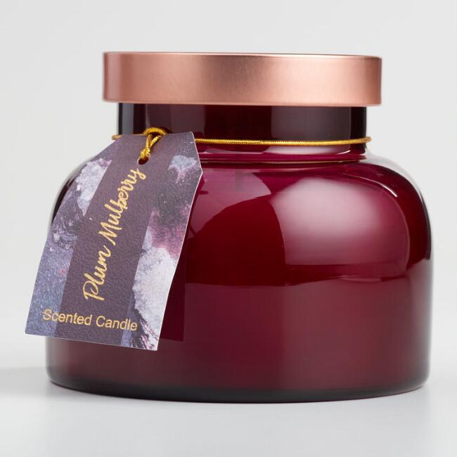 Plum and Mulberry Filled Bell Jar Candle