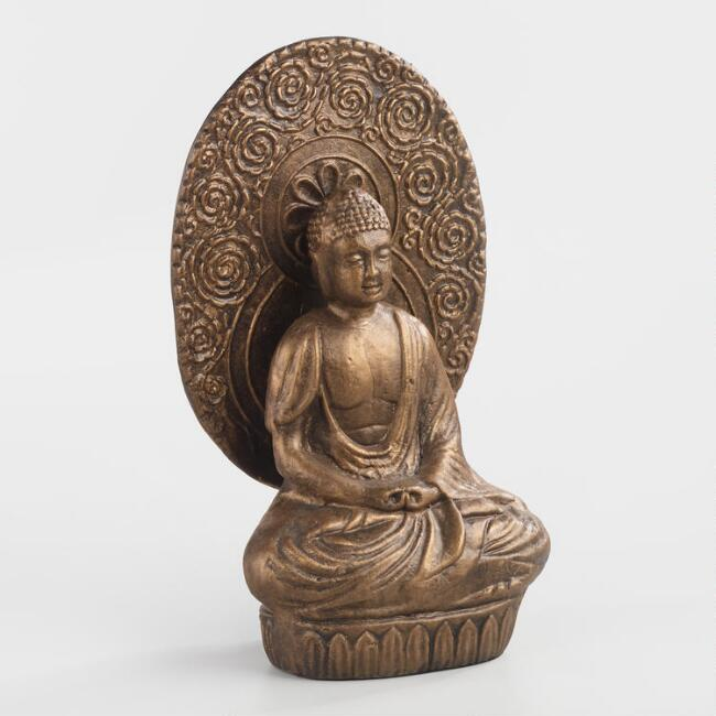 Antique Gold Buddha with Halo