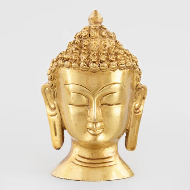 Small Gold Buddha Head